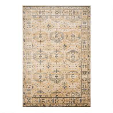 Wheat Distressed Vintage Style Isadora Area Rug