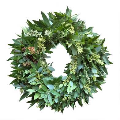 Fresh Bay Leaf, Eucalyptus and Rosemary Wreath