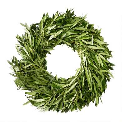 Fresh Olive Branch Wreath