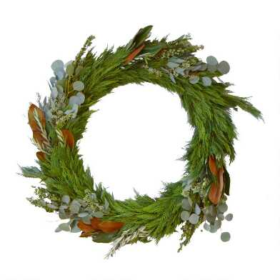 Fresh Cedar, Magnolia, Eucalyptus and Olive Branch Wreath