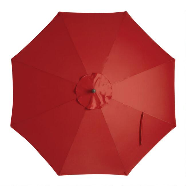 Red 9 Ft Replacement Umbrella Canopy