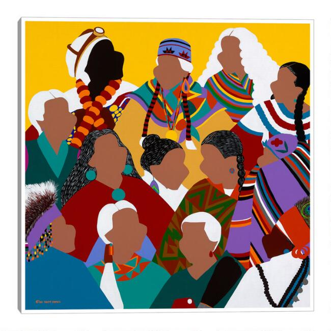 Indigenous Grandmothers by Synthia SAINT JAMES Wall Art