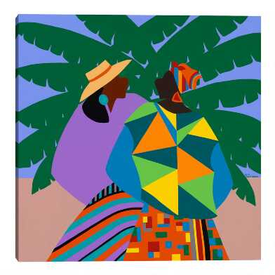 Kinship Sierra Leone by Synthia SAINT JAMES Canvas Wall Art