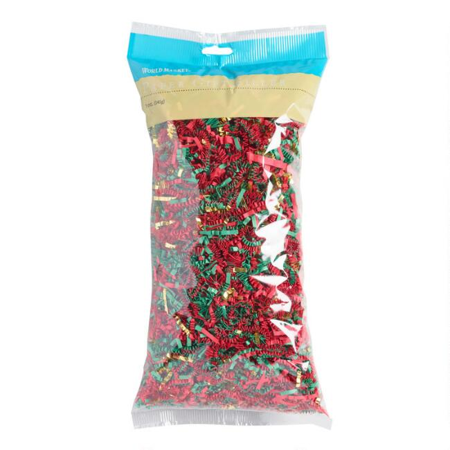 Red, Green and Gold Holiday Crinkle
