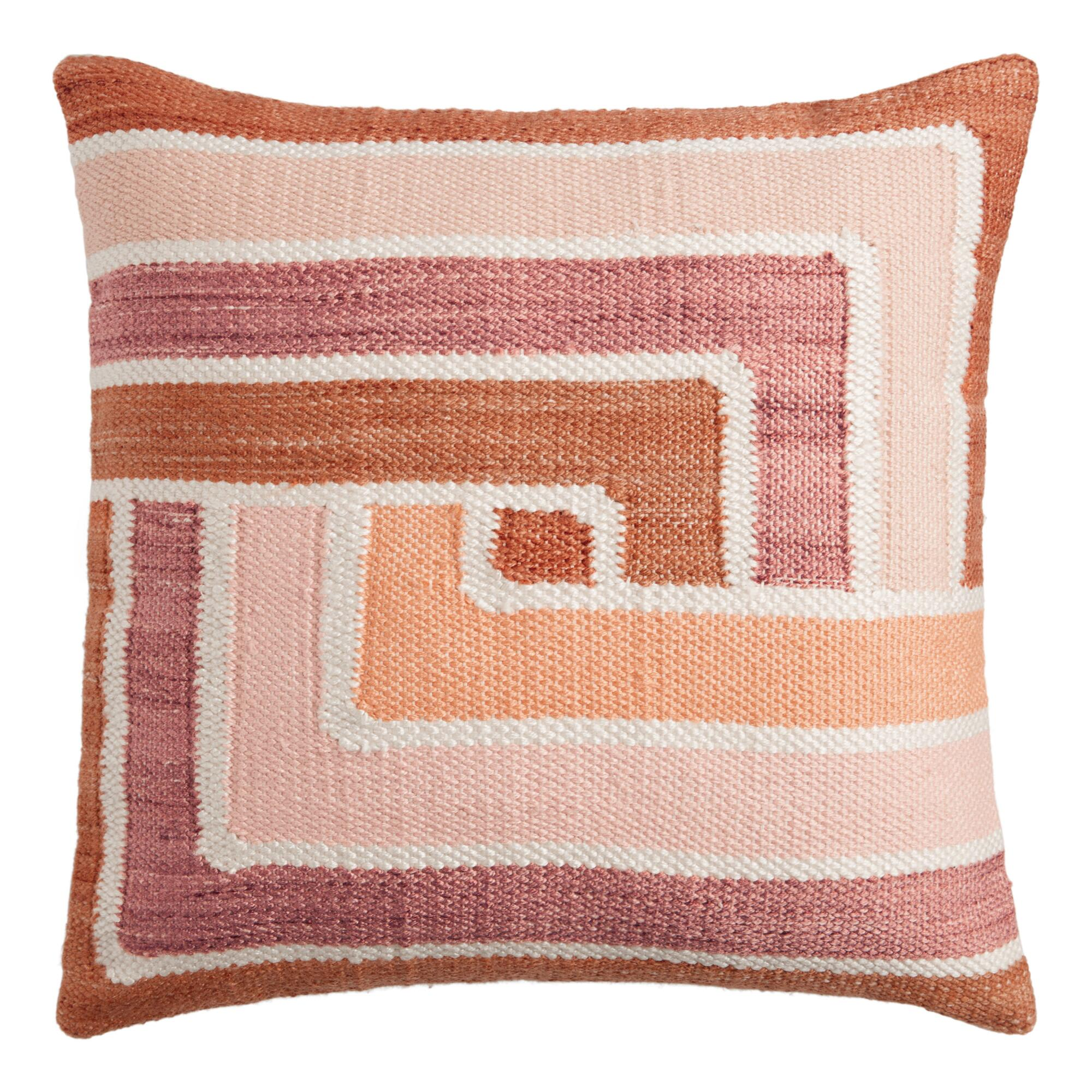 Geometric Wave Catcher Indoor Outdoor Throw Pillow World Market