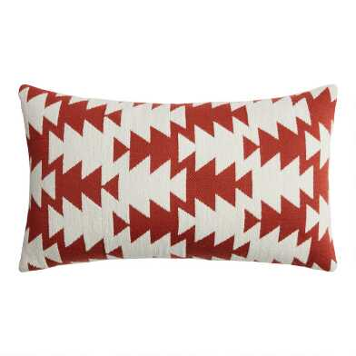 Rust And Ivory Marrakesh Indoor Outdoor Lumbar Pillow