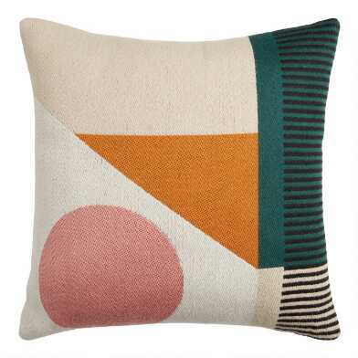 Multicolor Modern Geo Indoor Outdoor Throw Pillow