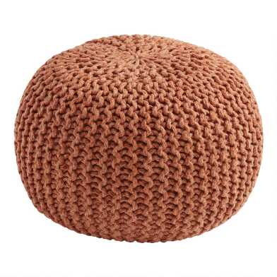 Terracotta Knit Indoor Outdoor Pouf