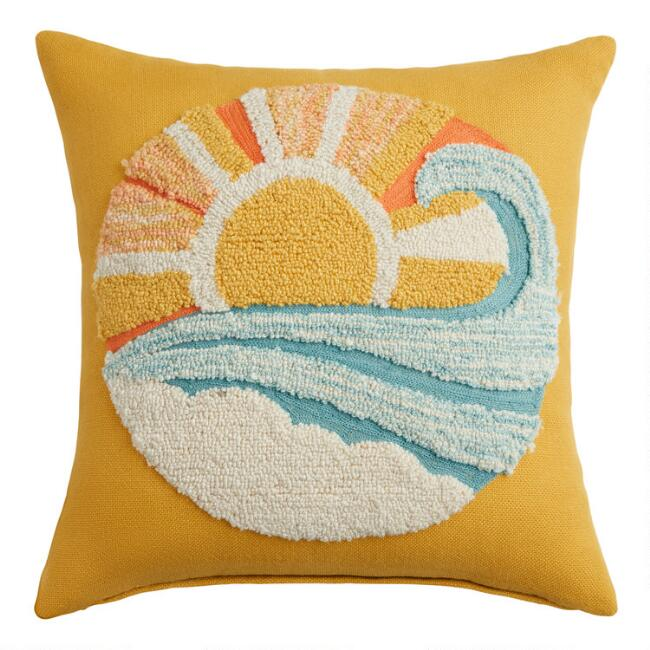 Sunshine State Of Mind Indoor Outdoor Throw Pillow