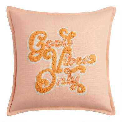 Good Vibes Only Indoor Outdoor Throw Pillow