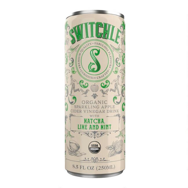 Switchle Matcha Lime And Mint Sparkling Apple Vinegar Drink