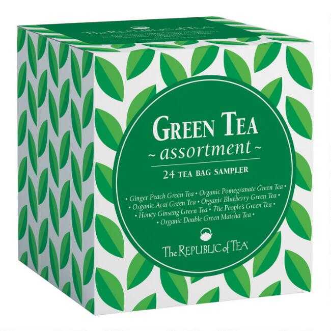 The Republic Of Tea Assorted Green Tea Cube 24 Count