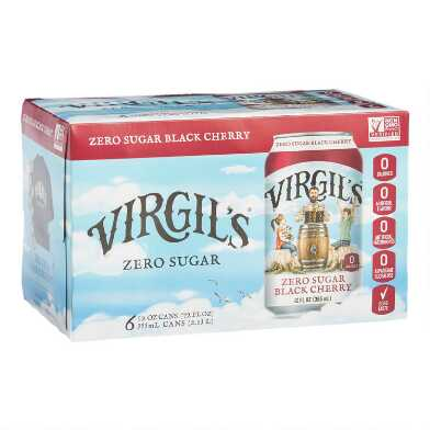 Virgil's Zero Sugar Black Cherry Soda 6 Pack