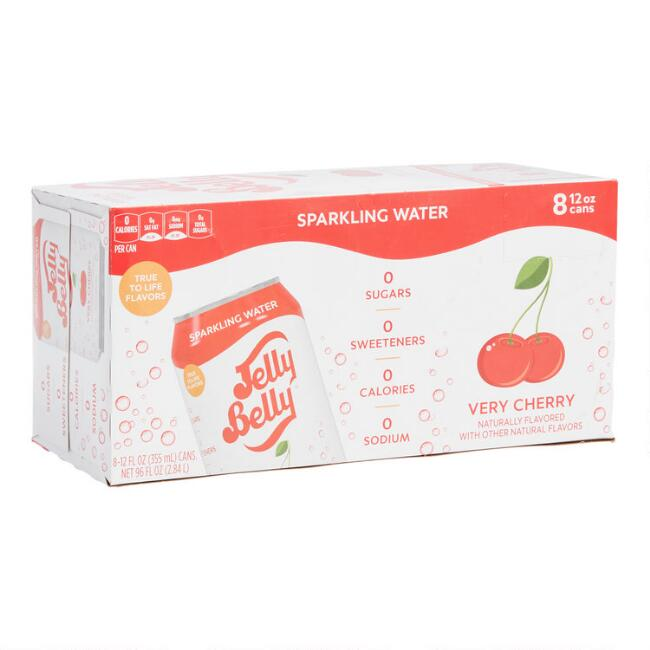 Jelly Belly Very Cherry Sparkling Water 8 Pack