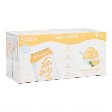 Jelly Belly Orange Sherbet Sparkling Water 8 Pack