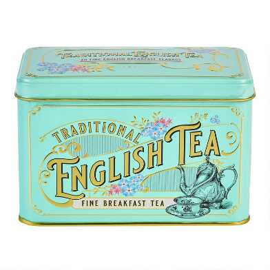 New English Teas Vintage English Breakfast Tea Tin 40 Count