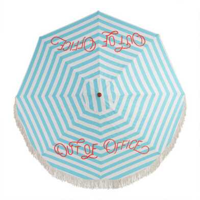 Out Of Office 9 Ft Replacement Umbrella Canopy With Fringe