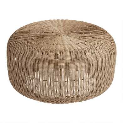 Round All Weather Wicker Maldive Outdoor Coffee Table