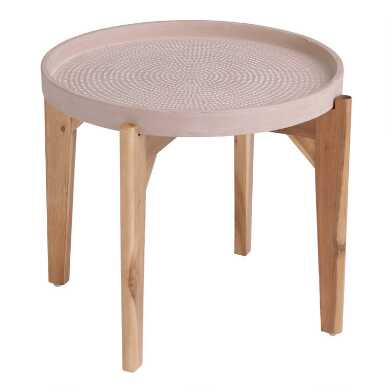 Small Round Pink Dotted Dorothy Outdoor Coffee Table