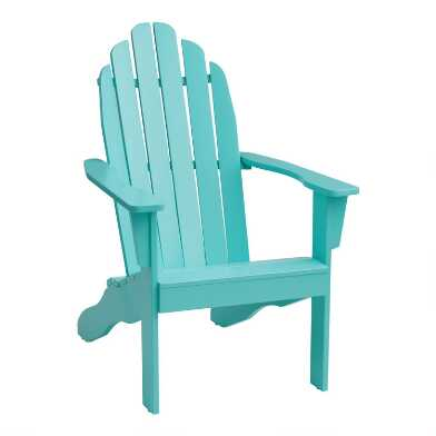 Aqua Blue Adirondack Chair
