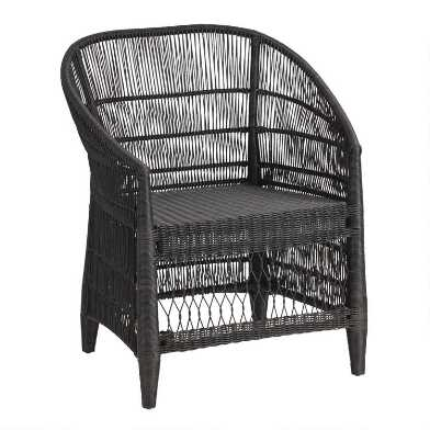 Black All Weather Wicker Diani Outdoor Dining Chair
