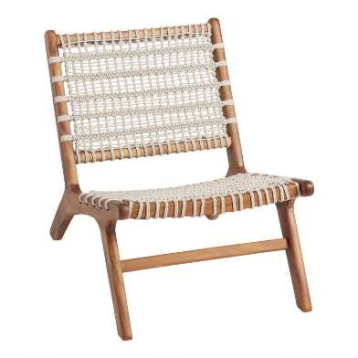 Crochet Woven Girona Outdoor Accent Chair Set of 2