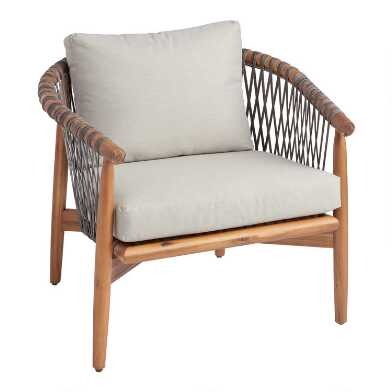 All Weather Wicker And Acacia Vance Outdoor Chair