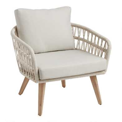Antique White Woven Rope Nevis Outdoor Chair