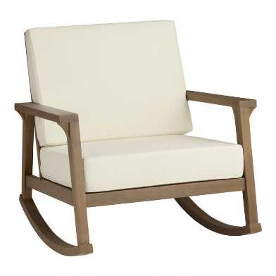 Natural Eucalyptus Zaragoza Outdoor Rocking Chair