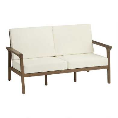 Natural Eucalyptus Zaragoza Outdoor Bench