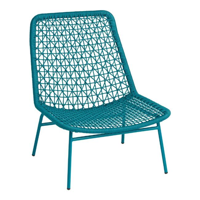 Teal Rope Flynn Outdoor Lounge Chair