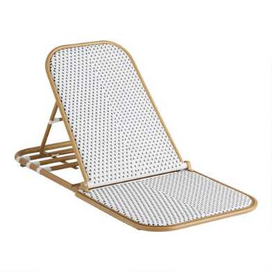 All Weather Wicker Aptos Outdoor Folding Beach Chair
