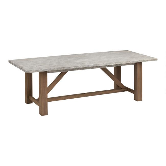 Two Tone Eucalyptus Netanya Outdoor Dining Table