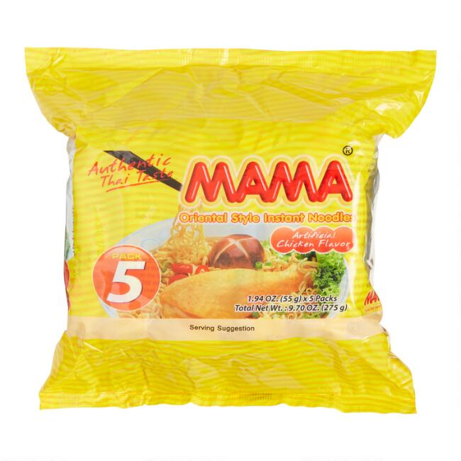 5 Pack Mama Instant Chicken Noodles Set of 2
