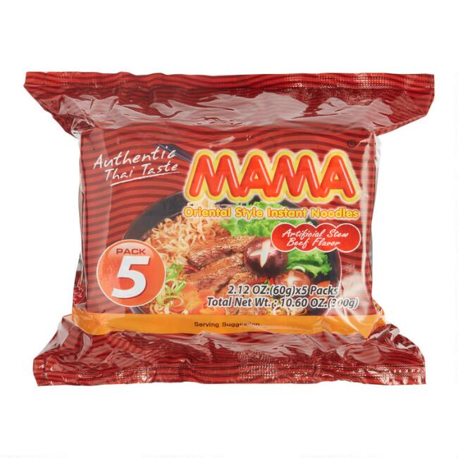 5 Pack Mama Instant Beef Noodles Set of 2