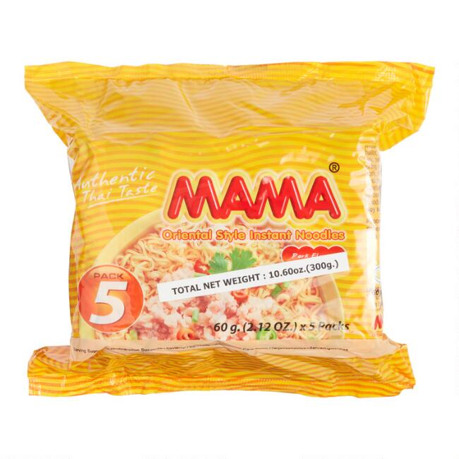 5 Pack Mama Instant Pork Noodles Set of 2