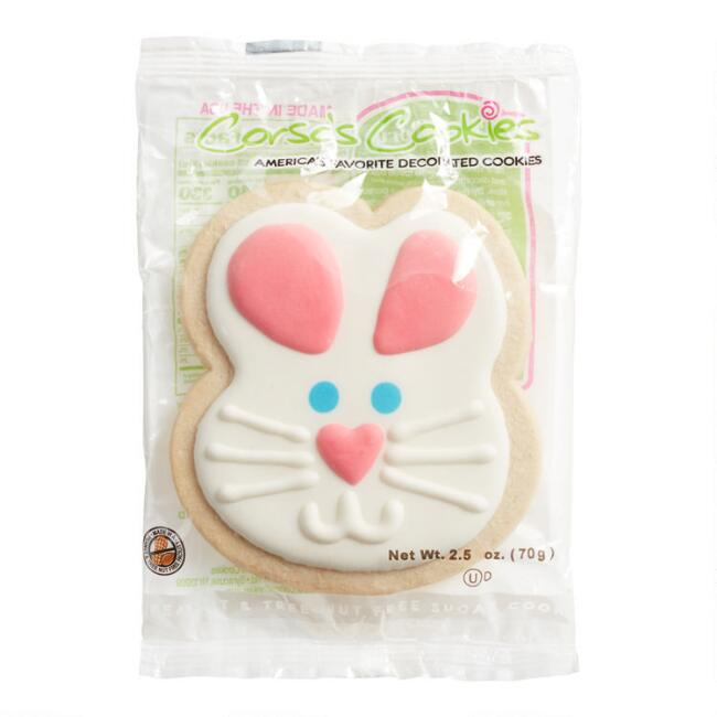 Easter Bunny Decorated Sugar Cookie
