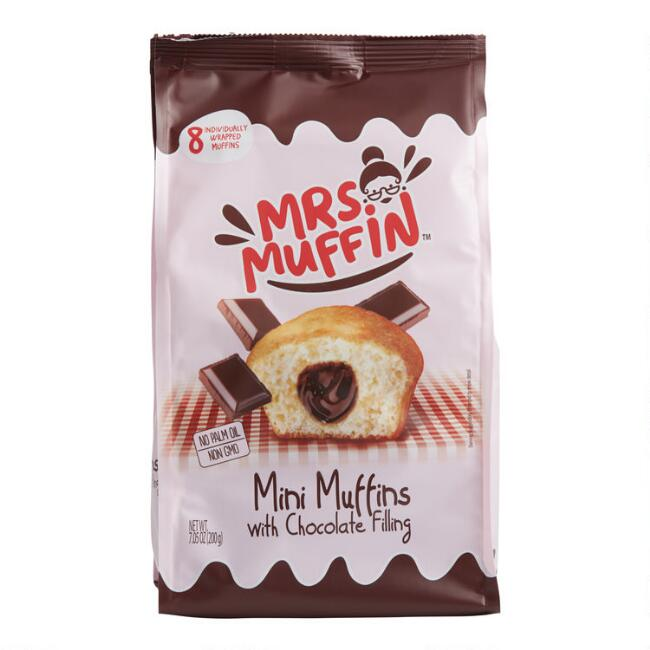 Mrs. Muffin Mini Muffins With Chocolate Filling Bag Set of 2