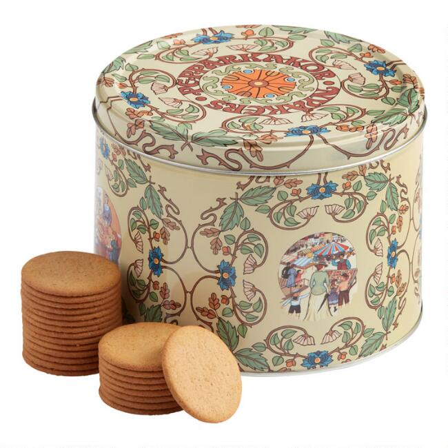 Nyakers Gingersnaps White Botanical Tin