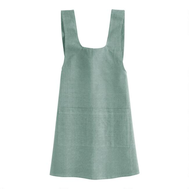 Jadeite Washed Cotton Smock