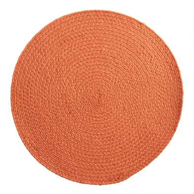 Round Terracotta Faux Jute Reversible Placemat