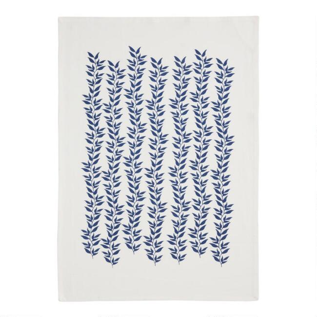 Blue Vines Flour Sack Kitchen Towel