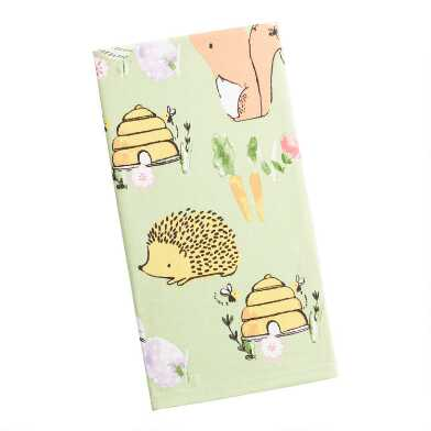 Green Little Gardeners Kitchen Towel