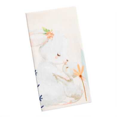Pink Ombre Bunny Kitchen Towel