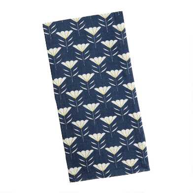 Navy Mariposa Lily Napkins Set of 4