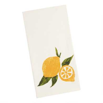 White and Yellow Lemon Kitchen Towel
