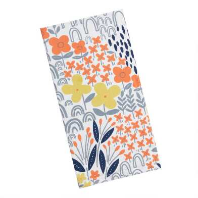 Modern Abstract Florals Kitchen Towel