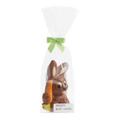 Weibler Hollow Milk Chocolate Bunny With Carrot Set Of 6