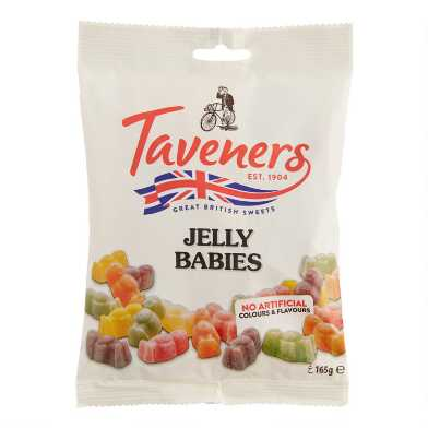 Taveners Jelly Babies Gummy Candy Bag Set Of 6