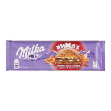 Milka Mmmax Almond And Caramel Milk Chocolate Bar
